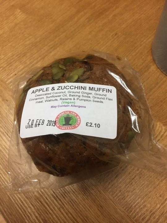 Apple and zucchini muffin