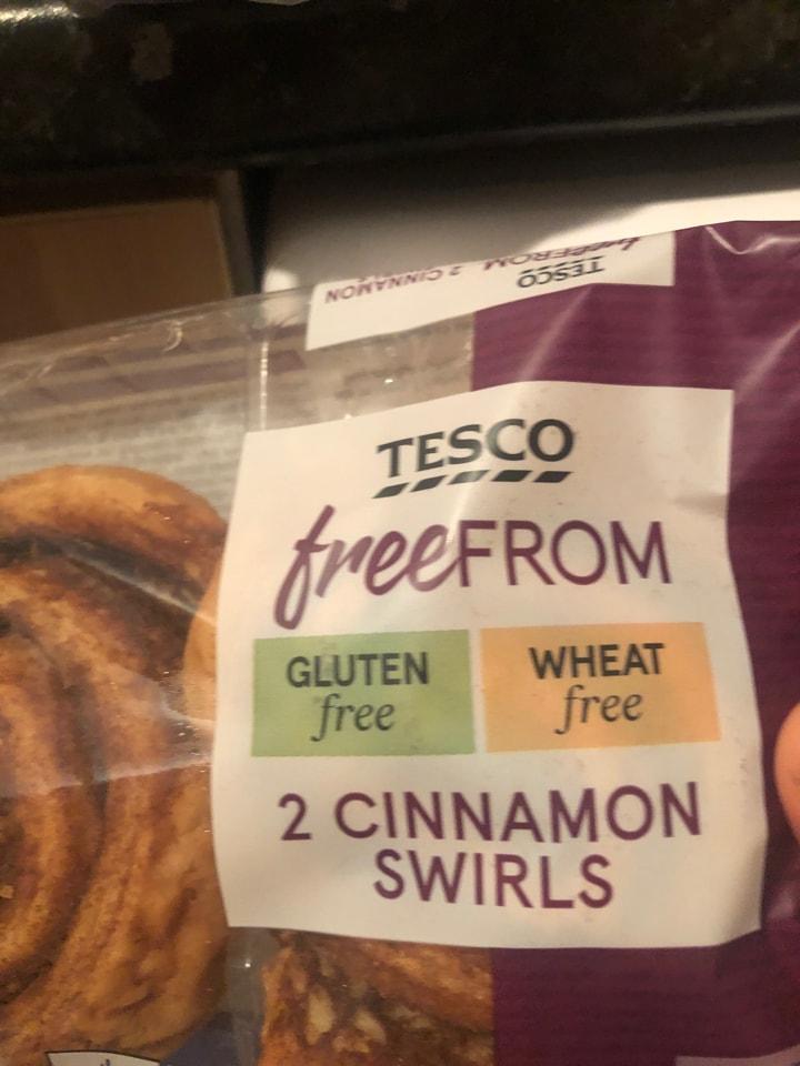 Tesco- free from- 2 cinnamon swirls