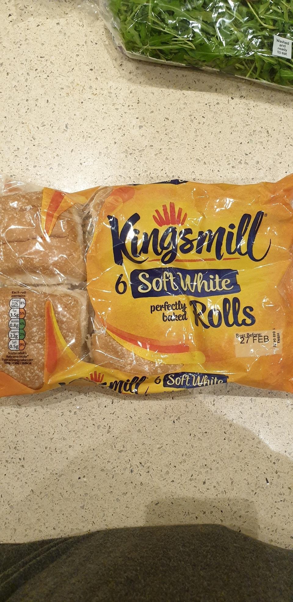 6 Soft white rolls