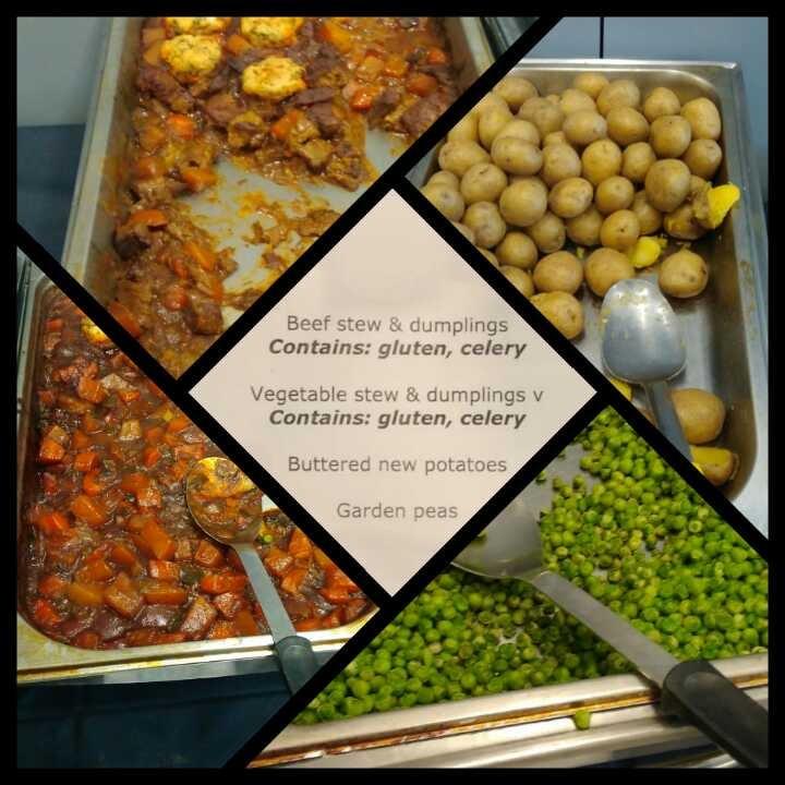 Surplus food - stew, potatoes and garden peas