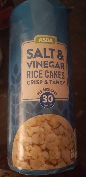 Asda salt and vinegar rice cakes