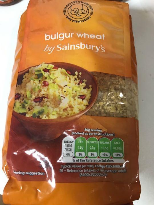 Sainsburys bulgar wheat 500g