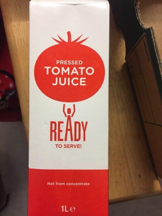 Pressed Tomato juice