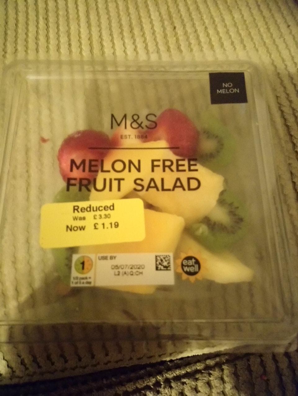 Melon free fruit salad