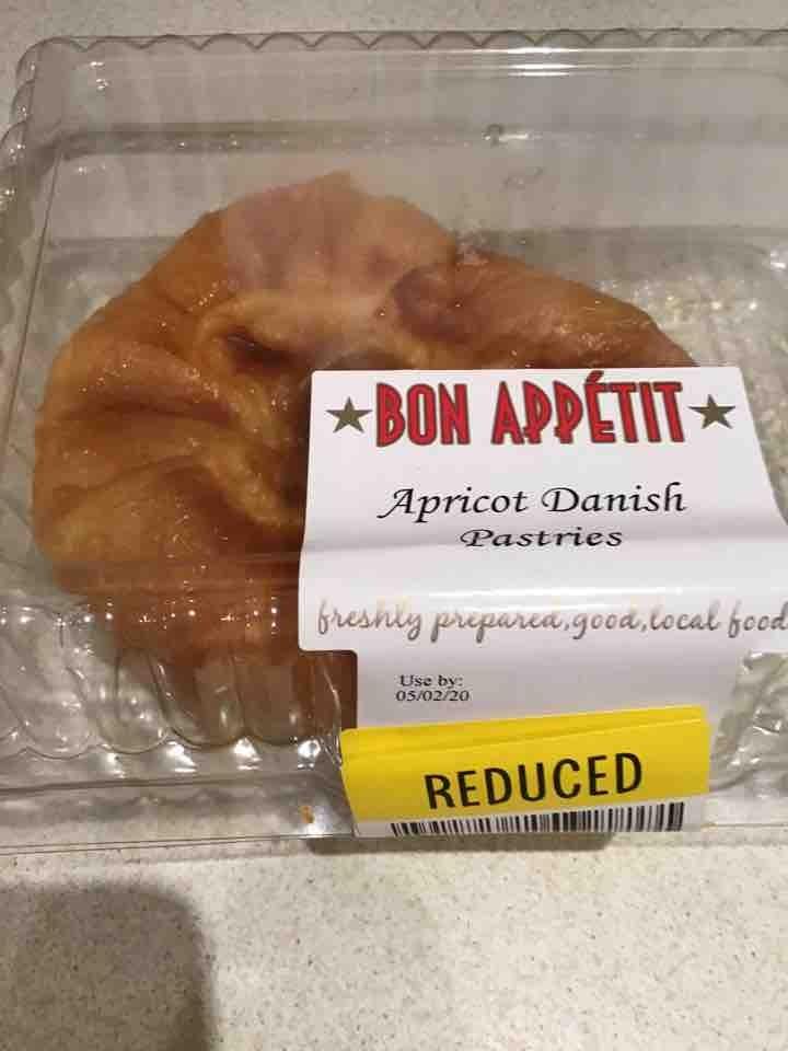 2 Apricot Danish pastries