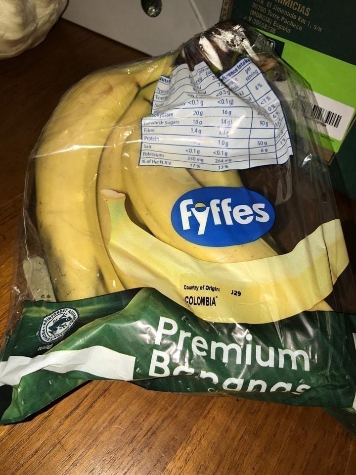 Bag of bananas (some may be bruised)