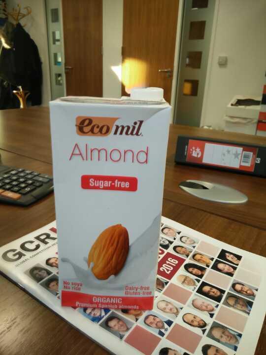 Unopened almond milk