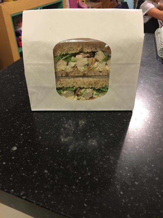 Chicken and bacon salad sandwich