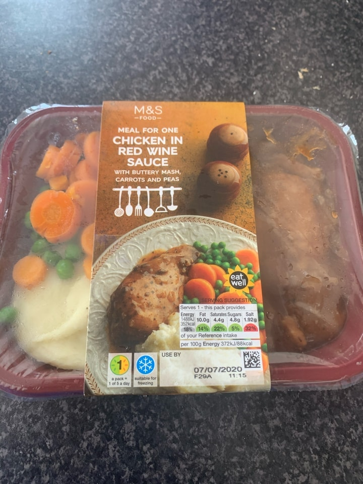 M&S Chicken in Red Wine Sauce Meal