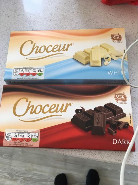 2 x unopened bars of chocolate