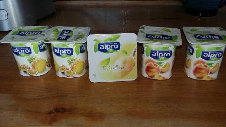 Alpro yogurts .