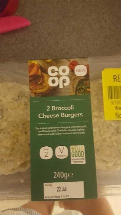 Broccoli cheese burgers