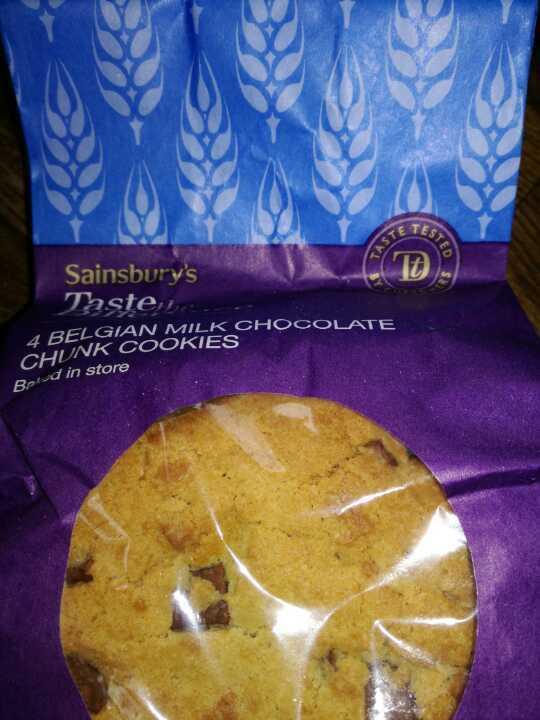 Belgium milk choc cookies