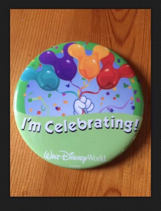 Walt Disney I'm Celebrating Button Badge Pin