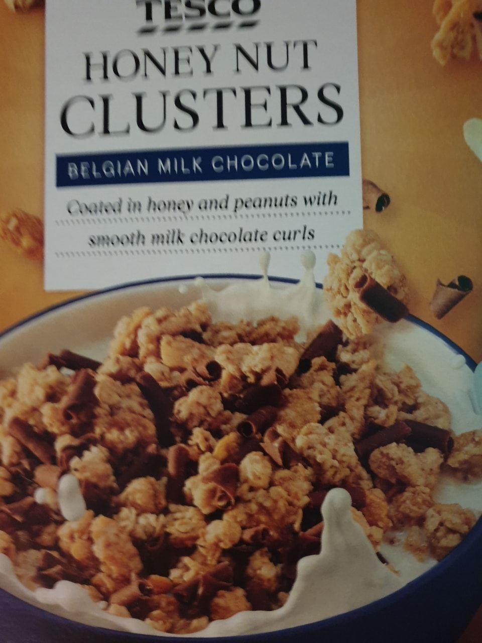 Honey nut cereal with chocolate