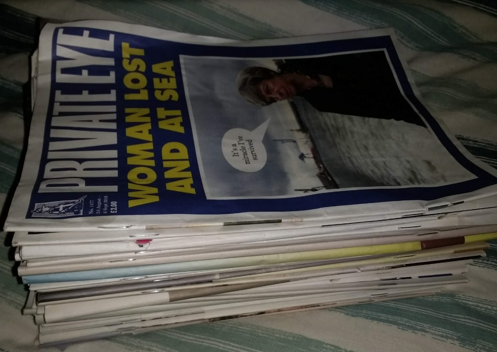 Approx 30 Private Eye magazines