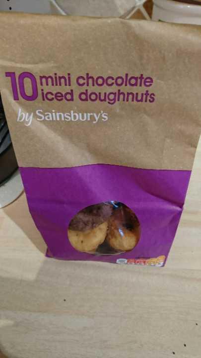 Mini chocolate doughnuts