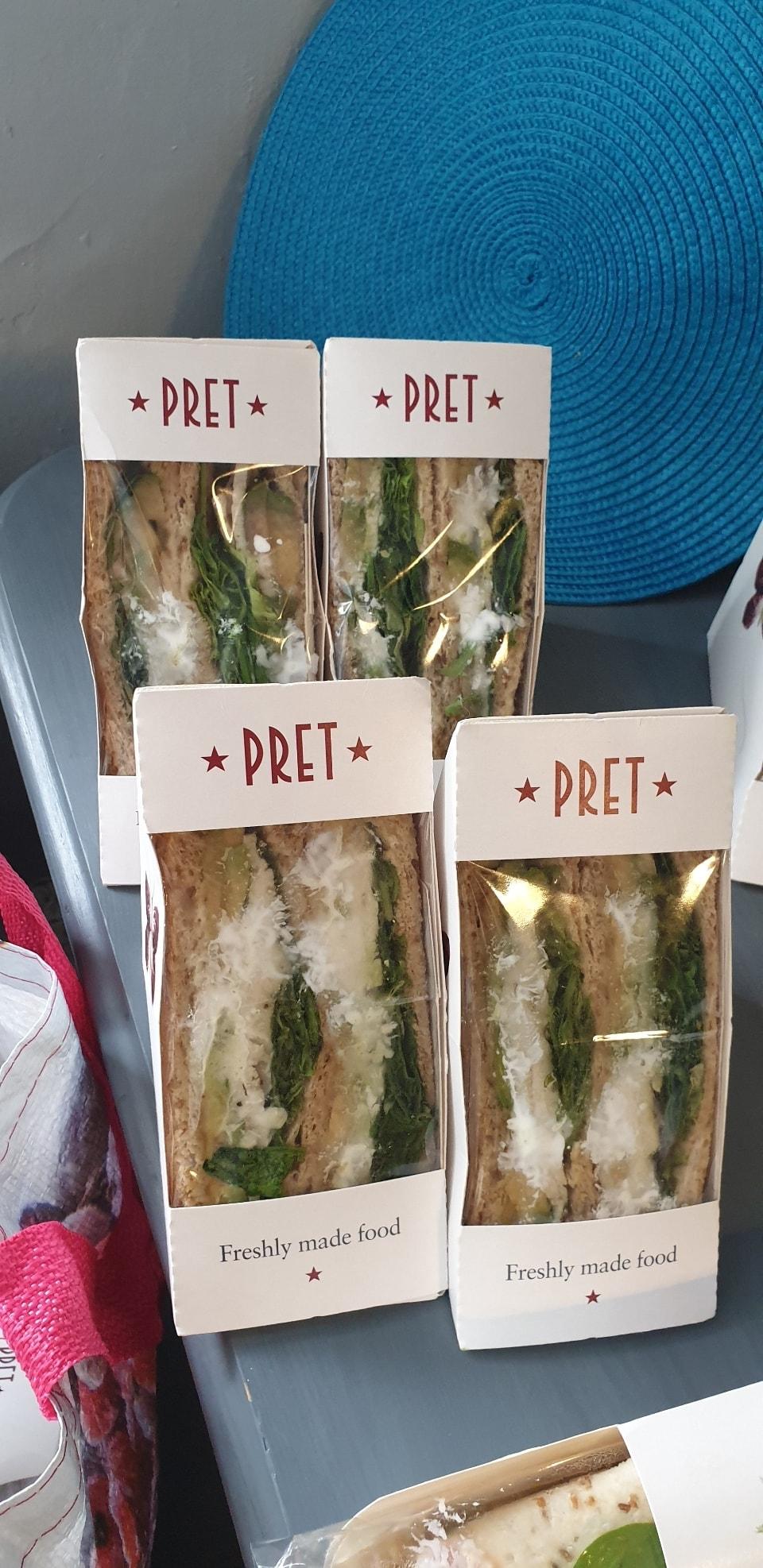 Pret chicken and avocado sandwich