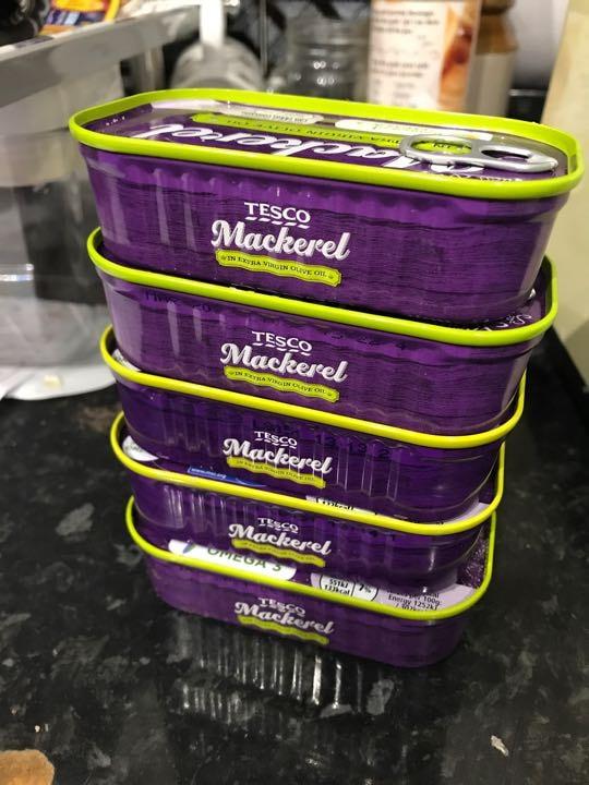 Tins of mackerel