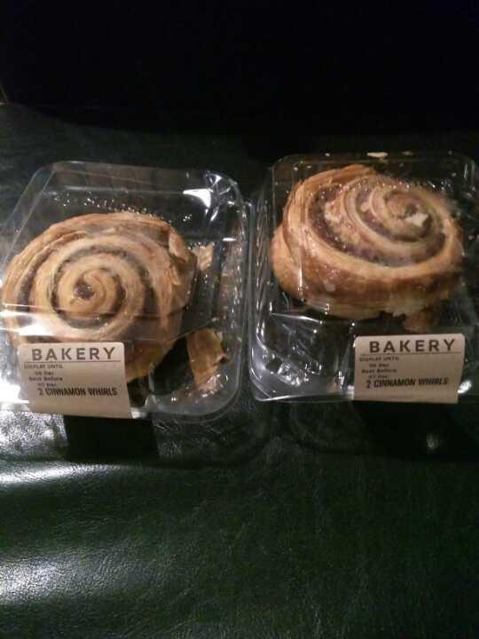 2 packs of cinnamon whirls