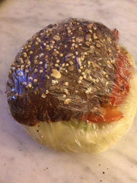 2 vegetarian sandwiches
