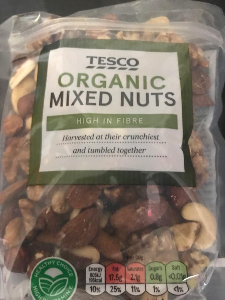 Tesco organic mixed nuts 🥜