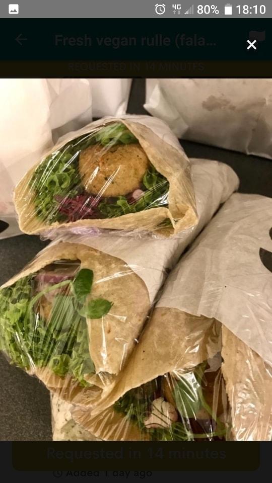 1 X falafel veggie wrap