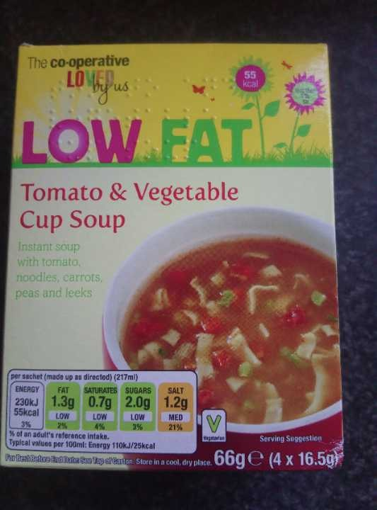 tomato and vegetable instant soup 3x