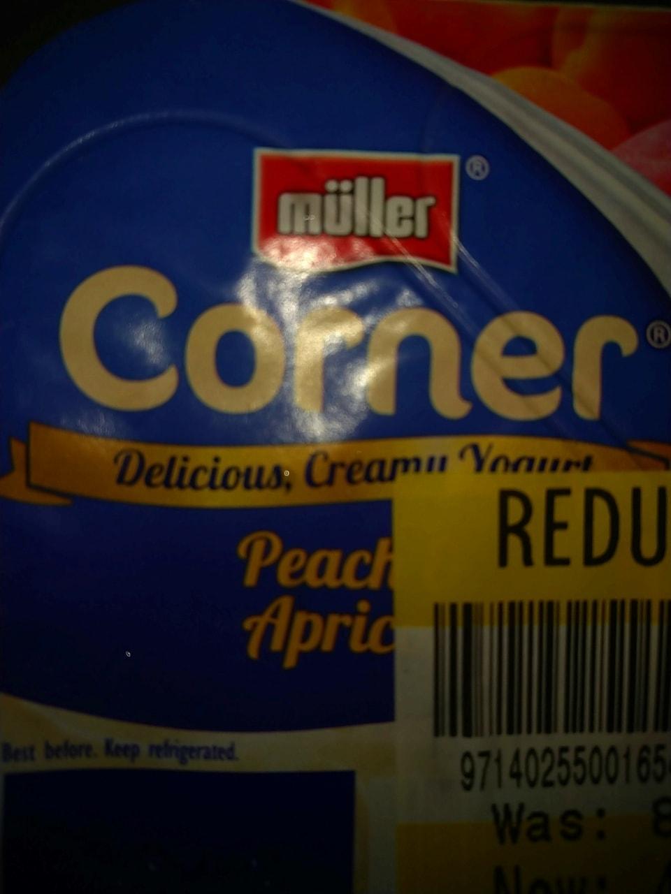 Peach and apricot yoghurt