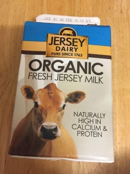 Organic fresh jersey milk pick up by 10.30 please