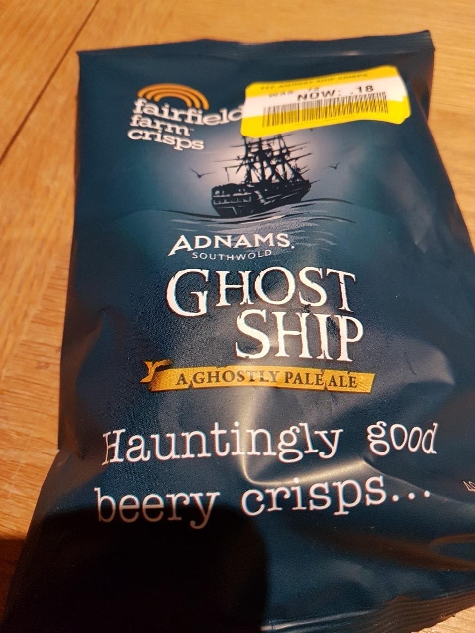 Adnams Ghost ship crisps