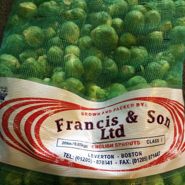 9 kg Brussels sprouts