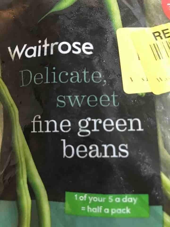 Delicate, sweet fine green beans