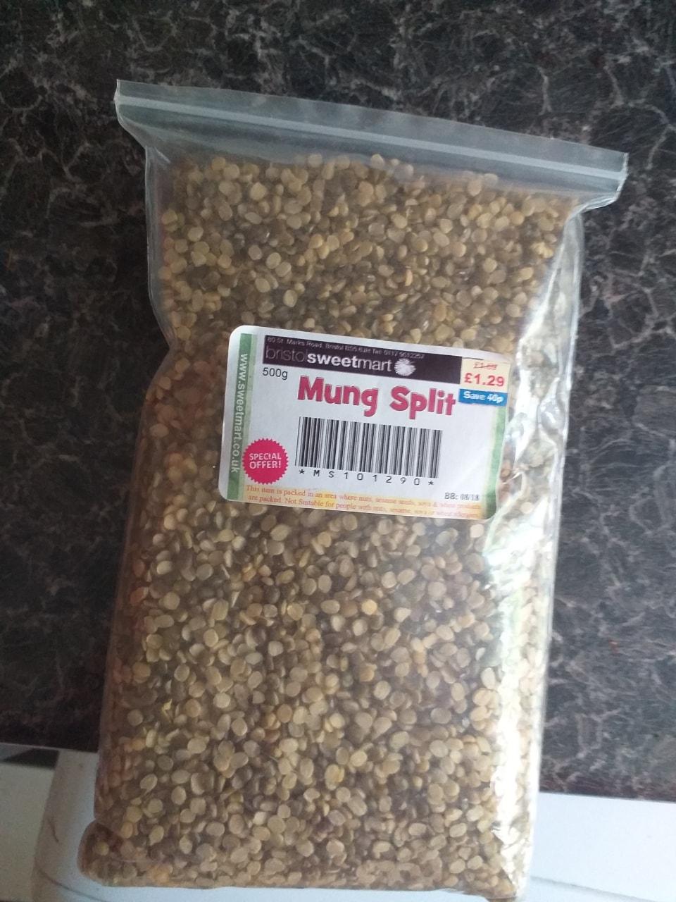 Split mung beans