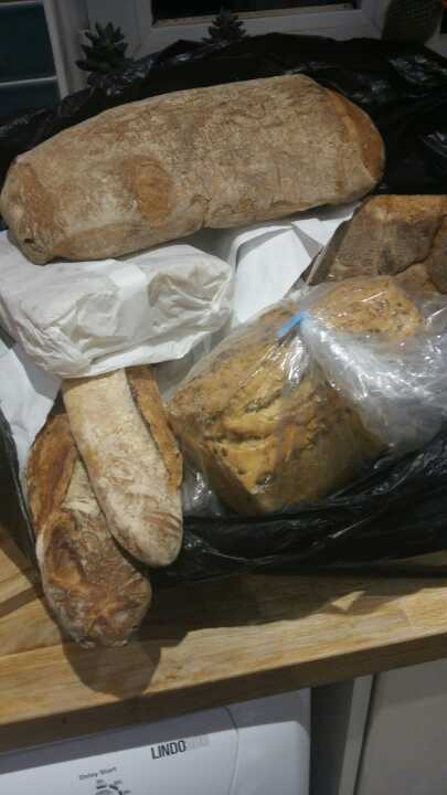 Yummy artisan bread from bakery collecrion