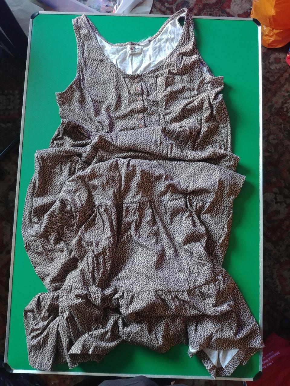 John Bamer Jeanswear ladies brown patterned dress.