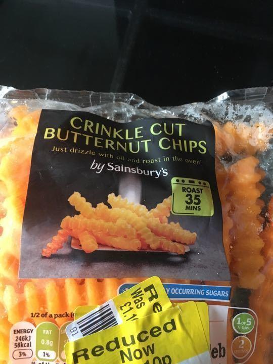 Crinkle cut butternut chips 300g