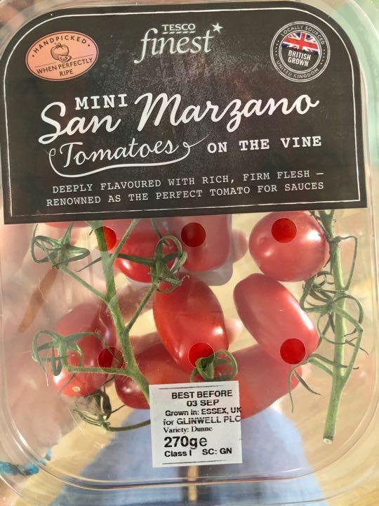 Mini tonstoeson the vine