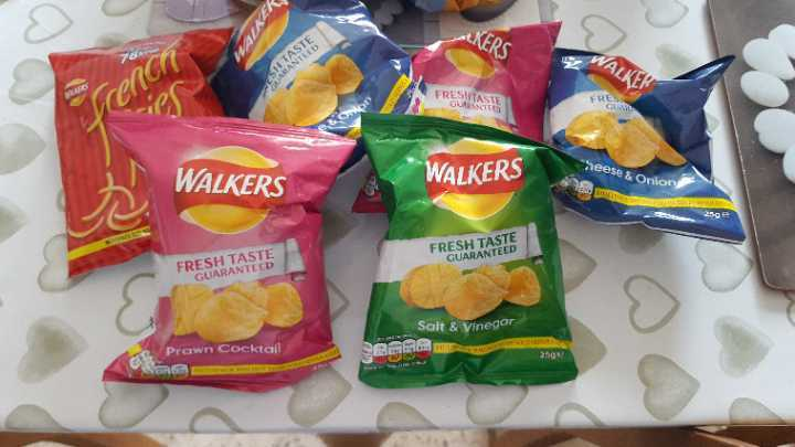 Selection of crisps - to go altogether please