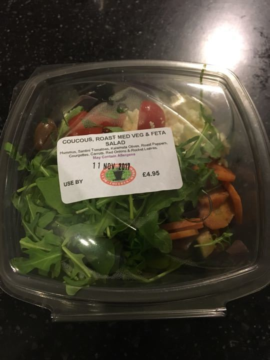 Couscous, roasted med veg and feta salad