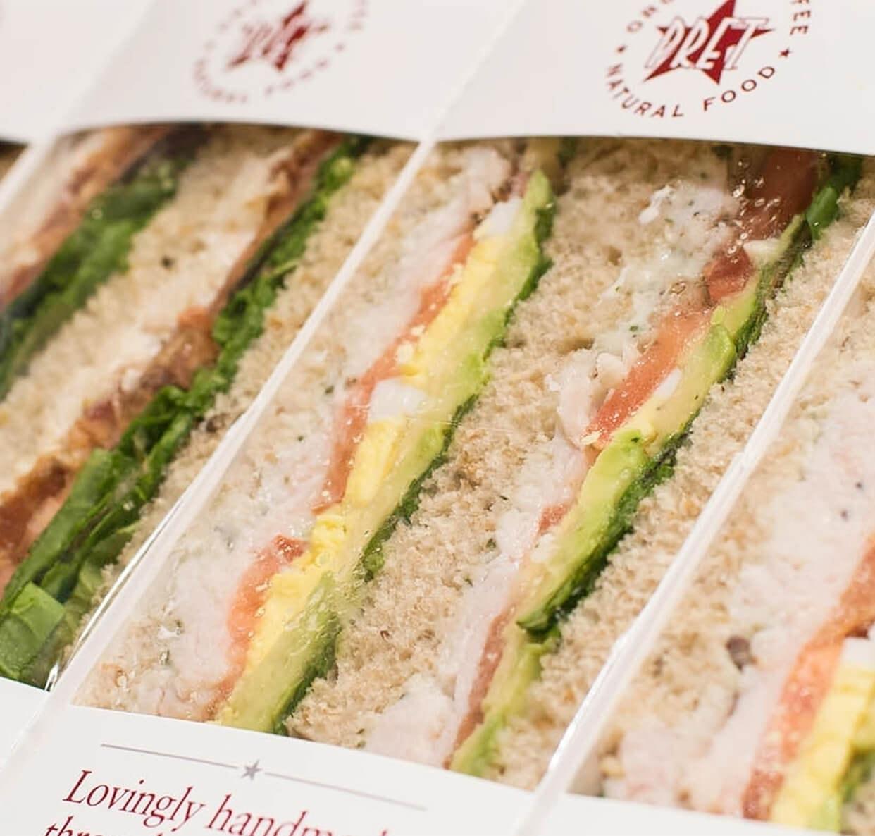 Pret tuna and cucumber sandwiches