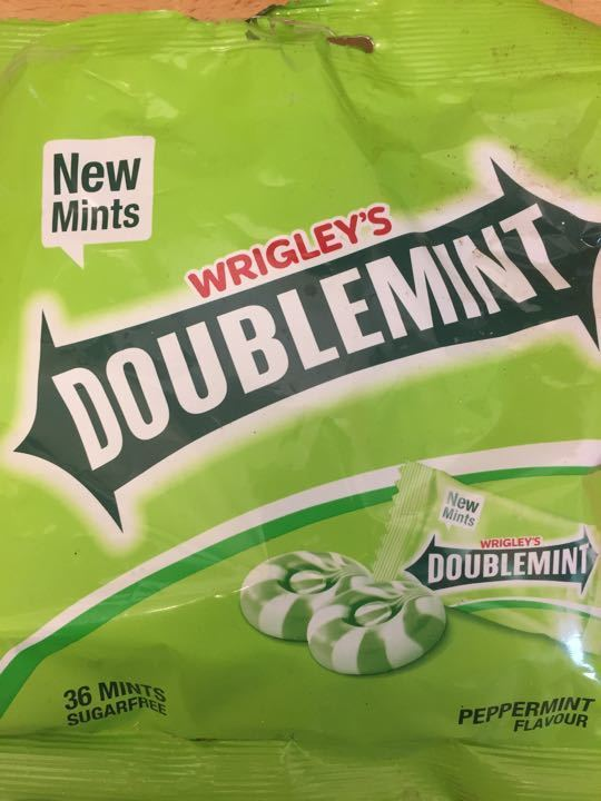 Bag of Wrigleys Sugar Mint Drops