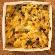 Prets kale and cauli Mac and cheese