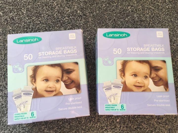 Breastmilk freezer storage bags (x75)