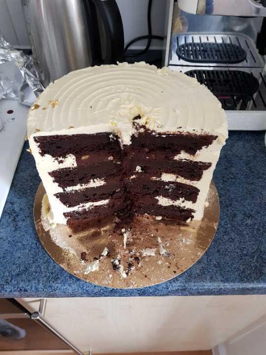 2/3 gluten free chocolate cake from Flour