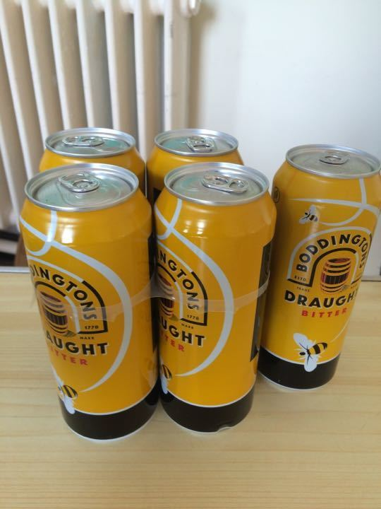 Boddingtons beer (5 cans)