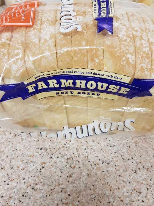 Warburtons White Farmhouse (Small loaf) x2