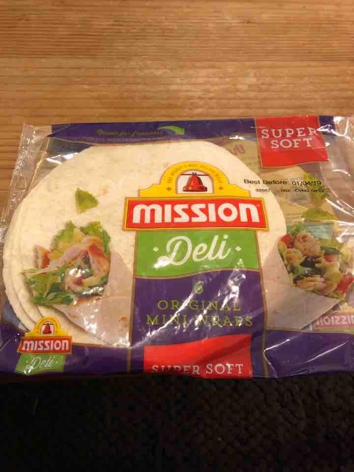 6 mini tortilla wraps - unopened