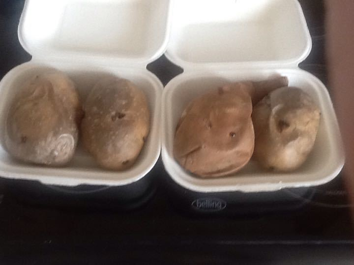 Warm Jacket potatoes from Delish (1 left)