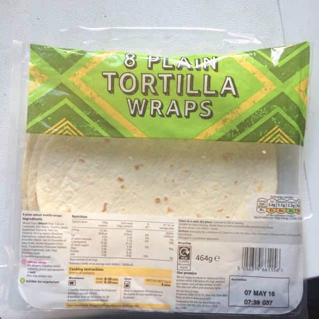 4 tortilla wraps